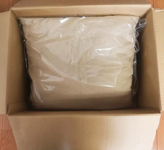 クッションの梱包方法3