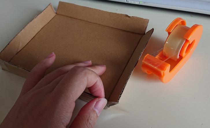ピアスの梱包箱の作り方5