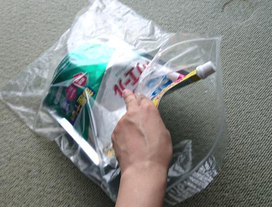 詰替え用洗剤の梱包2