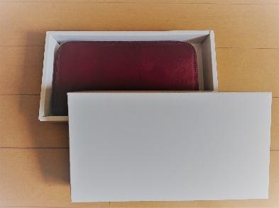 箱有りの財布の梱包方法