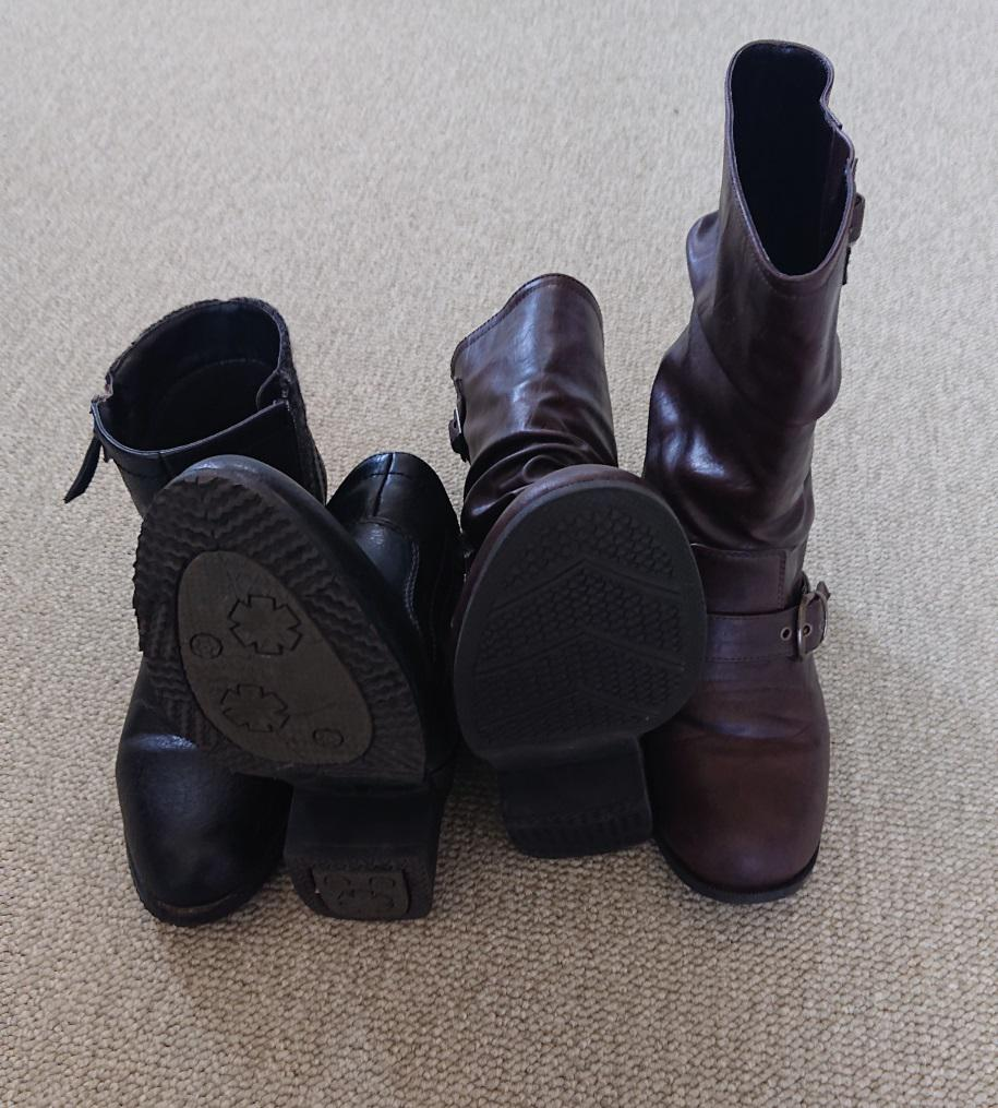 ブーツの梱包方法