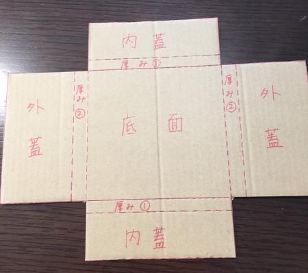 ゆうパケットの箱の作り方4
