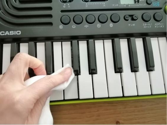 電子キーボードの梱包方法2