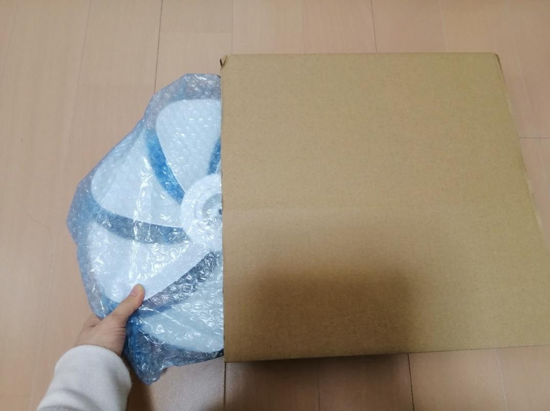 扇風機の梱包方法11