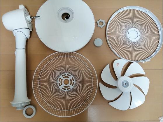 扇風機の梱包方法2
