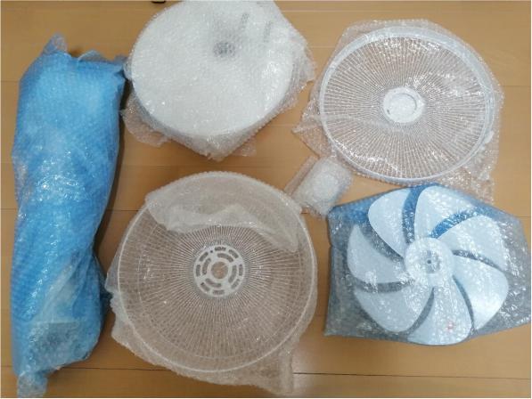 扇風機の梱包方法9