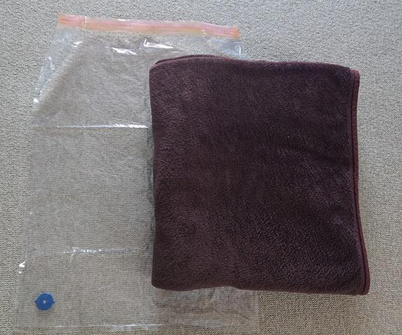 タオルケットの梱包方法4