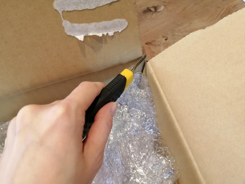 電気ケトルの梱包方法14