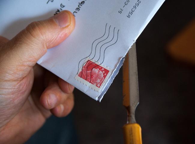 開封された封筒
