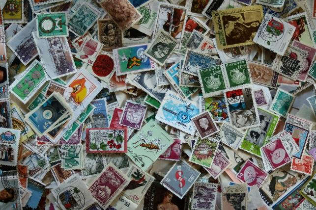 切手の貼り方