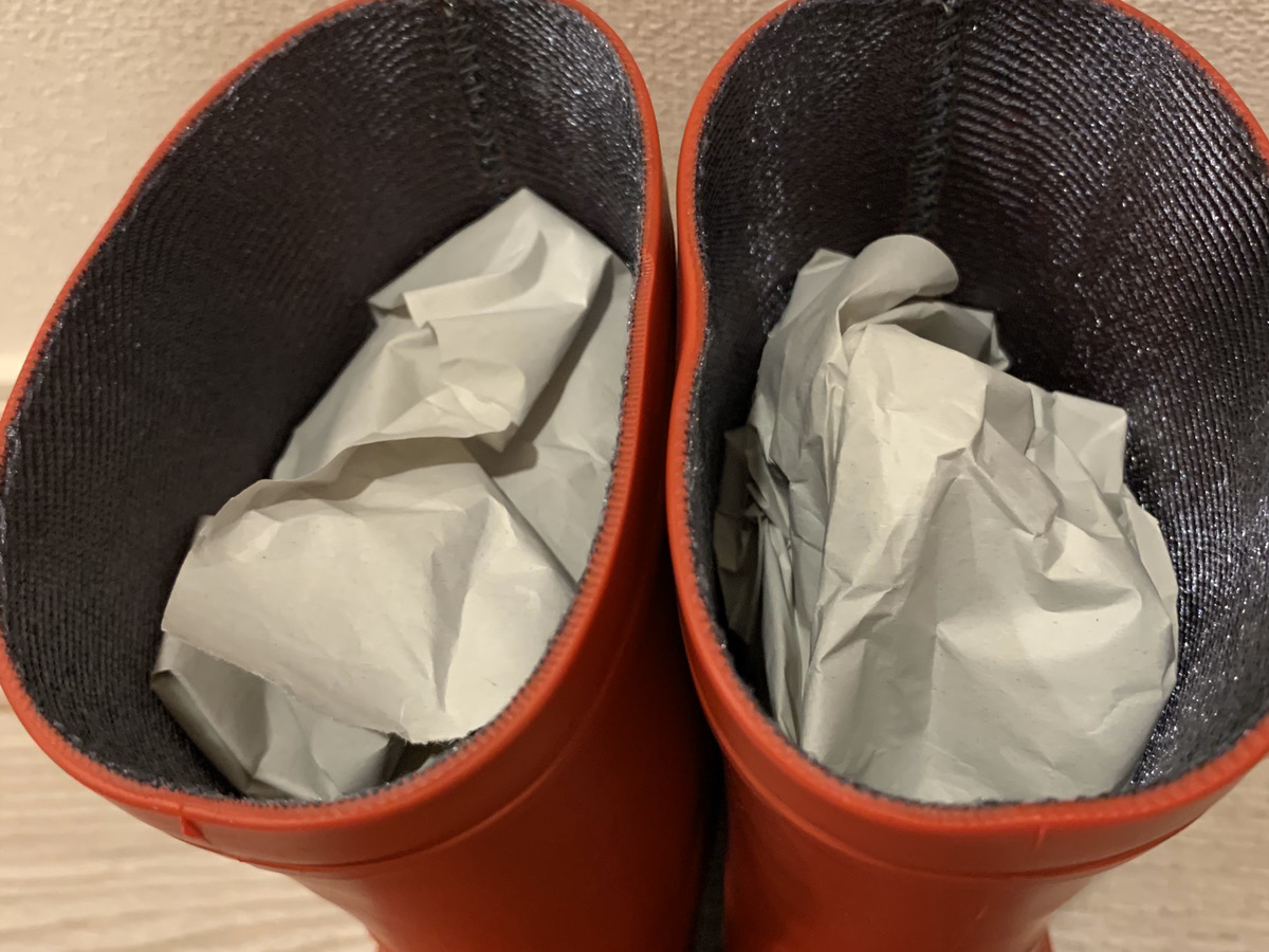 長靴の梱包方法4