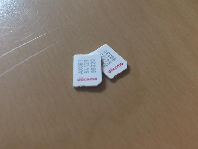 SIMカードの写真
