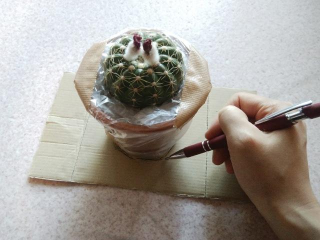 鉢の底をなぞり書き