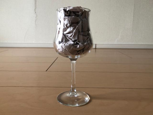 ワイングラスの梱包方法1