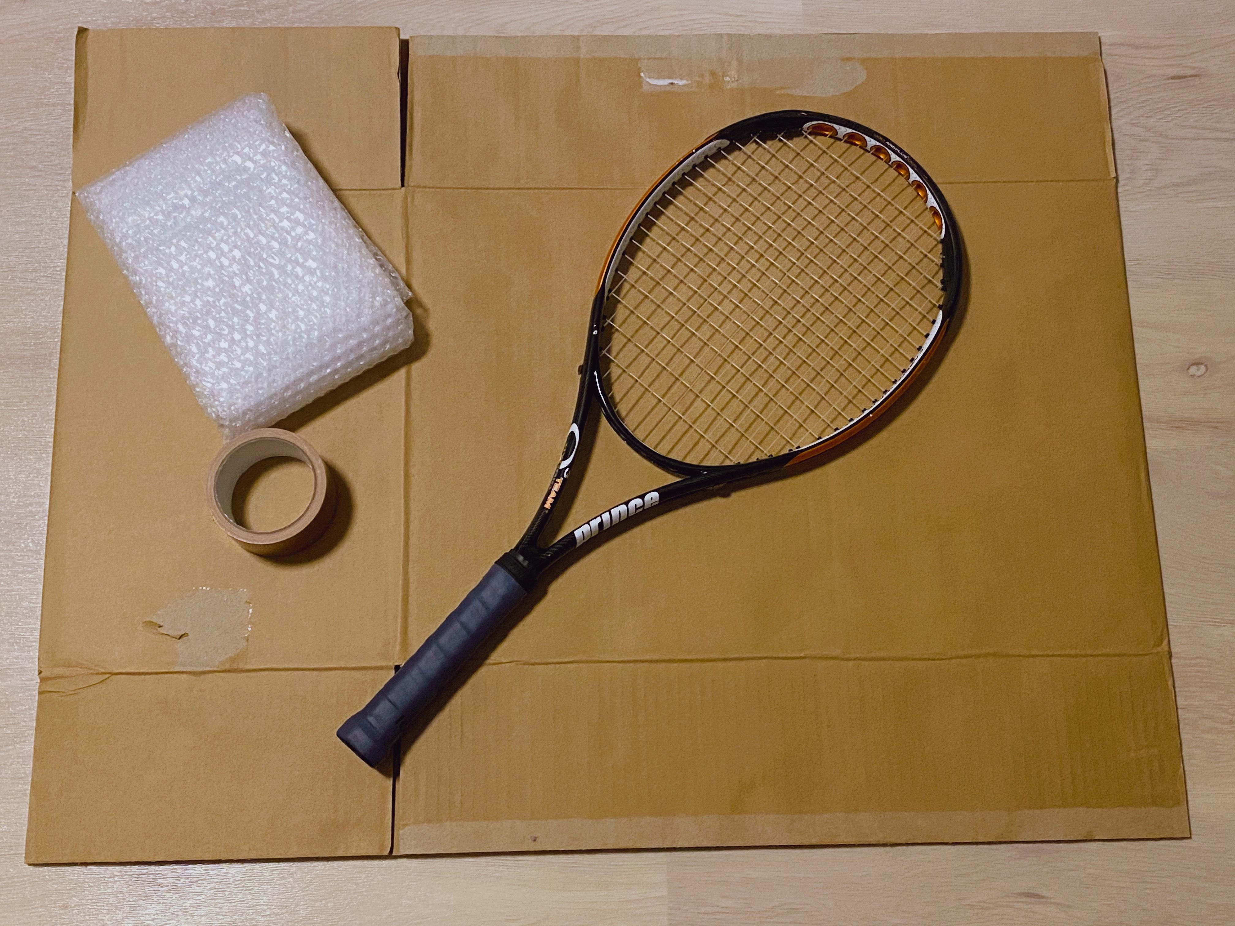 テニスラケット梱包1
