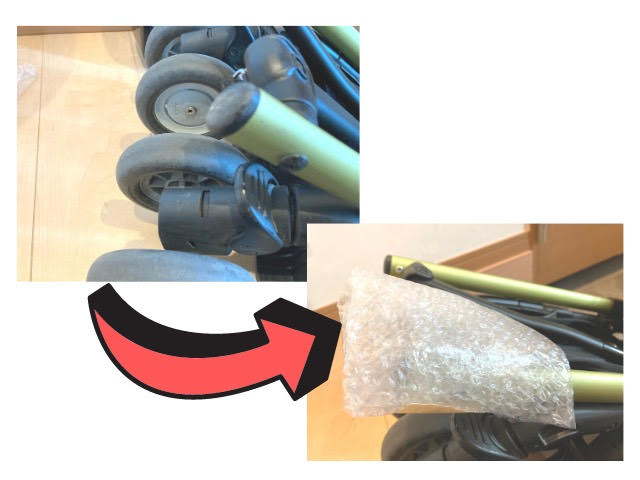 ベビーカーの梱包方法6
