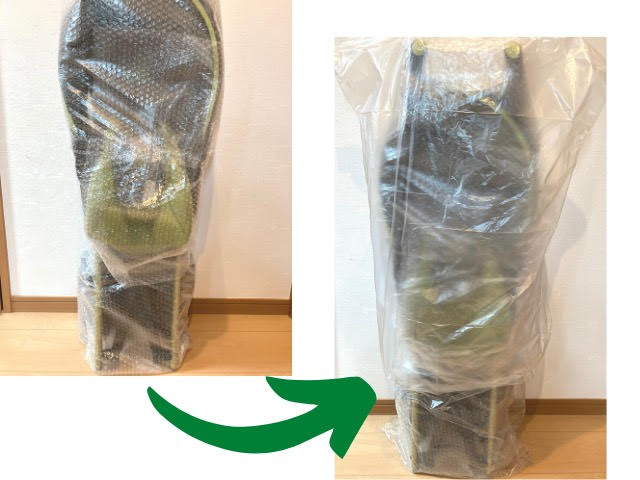 ベビーカーの梱包方法9