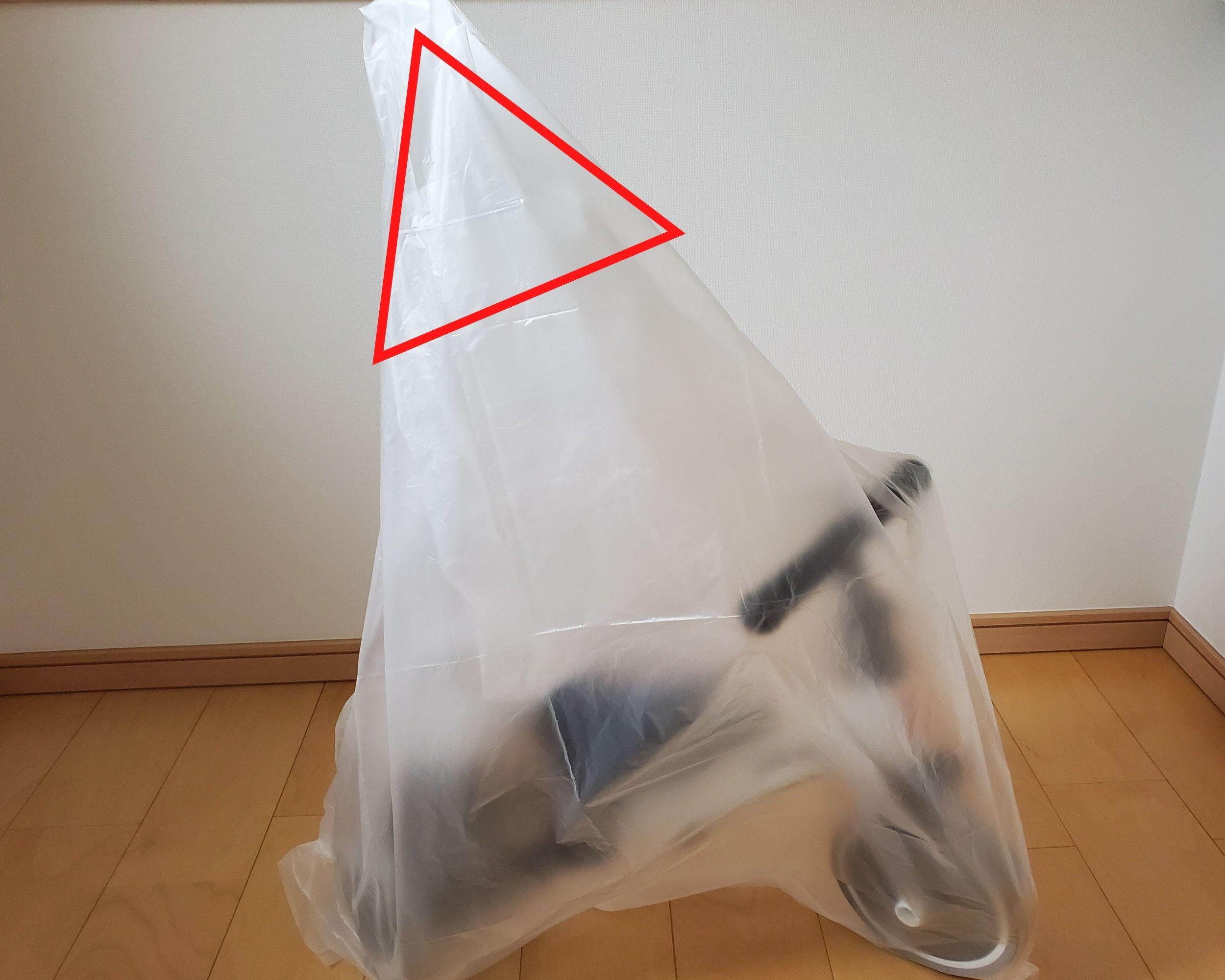 三輪車の梱包方法